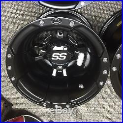 SET OF 4 ITP SS112 Rims Yamaha Banshee Warrior 350 Four ATV wheels Matte Black