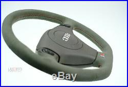 STEERING WHEEL AUDI S4 B5 A4 A8 S8 S-Line Tiptronic TOP Quality Alcantara FLAT