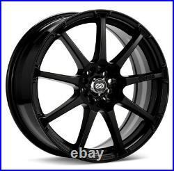 (Set of 4) 16x7 +38 Enkei EDR9 5x100/114.3 Black Wheels