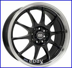 (Set of 4) 16x7 +38 Enkei J10 5x100/114.3 Black Wheels
