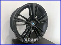 Set of 4 Wheels 18 inch Matte Black Rims fits BMW 3 SERIES SEDAN (E90)