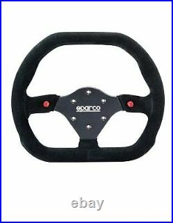 Sparco 015P310F2SN P 310 Competition Steering Wheel Flat Black Suede 310 mm