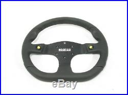 Sparco L999 Steering Wheel 330mm Alcantara/Leather Flat Dish withThumb Horn Button