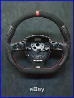 Steering Wheel AUDI A3 S3 8P0 FLAT BOTTOM! SPORT MODIFIED ALCANTARA R8 STYLE