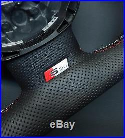 Steering Wheel Audi S5 Leather + Alcantara Spa! Flat Bottom Audi R8 2017 Style