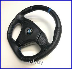 Steering Wheel Bmw E36 E39 E46 Z3! Flat Bottom! Full Leather Race Strip