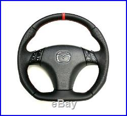 Steering Wheel MAZDA 3 and 6. SPORT STYLE FLAT BOTTOM! EXTRA PADDING