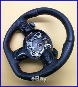 Steering Wheel MINI COOPER R55 R56 R57 R58 R59 FLAT BOTTOM ACANTARA LEATHER Padd