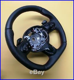 Steering Wheel MINI COOPER R55 R56 R57 R58 R59 FLAT BOTTOM ACANTARA LEATHER Padd