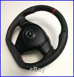 Steering Wheel Mazda RX8 NEW LEATHER AND ALCANTARA! FLAT BOTTOM! SPORT STYLE