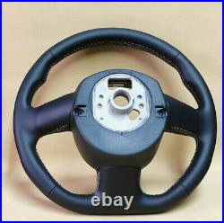 Steering wheel Audi A4 A5 S4 B8 Flat bottom New leather ergonomic arms