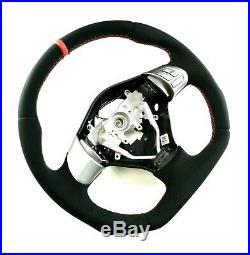 Subaru Impreza Gh Wrx Sti Legacy Flat Bottom Steering Wheel Full Alcantara