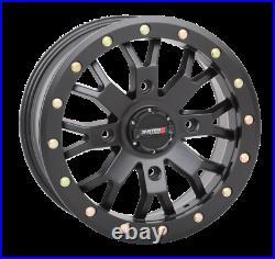 System 3 Beadlock SB-4 Matte Black 15x7 4/156 6+1 UTV SXS Wheel Black Lug Nuts