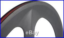 Tri Spoke Front Carbon Bike Wheel 70mm Track/Road Bike Clincher Front Wheel 700C