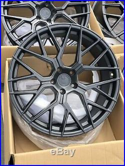 Used Set 20x9/20x10.5 Aodhan LS009 5x114.3 +30/35 Matt Black Wheels