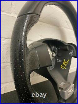 Used Vw Volkswagen Mk5 Golf Gti Black Leather Flat Bottom Steering Wheel