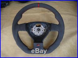 VW Golf 5 V MK5 Jetta Passat R32 GTI Steering Wheel thick flat bottom Alcantara
