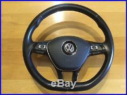 VW Transporter T5.1 flat bottom leather Multi Function steering wheel & Airbag
