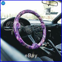 Viilante 2 Deep Dish 6-hole Steering Wheel Galaxy Satin Black Spoke Fits Nrg
