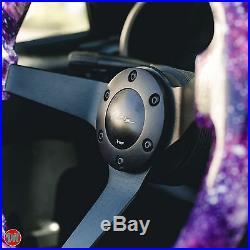 Viilante 3 Deep Dish 6-holes Steering Wheel Galaxy Black Spoke Wood 350mm