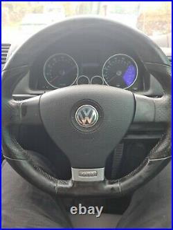 Volkswagen Golf GTI Mk5 / MkV flat bottom leather steering wheel and airbag VGC