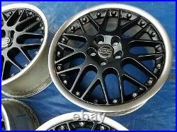 Volvo C70 S70 V70 XC70 OEM BBS RS797 17 Restored Matte BLACK PROPUS Wheels Rims