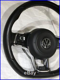 Vw Golf Gtd Mk7 Flat Bottem Steering Wheel With Round Airbag Caddy Mk 7 7.5