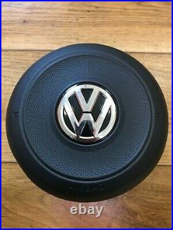 Vw Golf Mk7 Gti Gtd R Drivers Steering Wheel Airbag 5g0880201ac Genuine