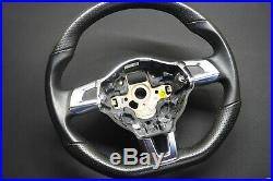 Vw Gti Flat Bottom Golf Rline Gtd R32 Steering Wheel Mk5 Jetta Caddy Rline