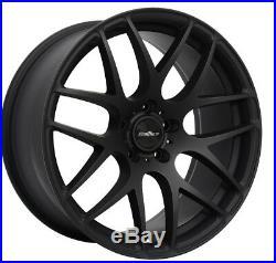 Vw T5 T6 Calibre Exile R Alloy Wheels 18 Matt Black 5x120 Caravelle, T30, T32