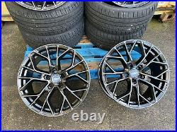 Vw T6 T6.1 Aluwerks Xt1 Wolfsburg Matt Black Load Rated 19 Alloy Wheels & Tyres
