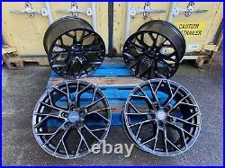Vw Transporter T5 T6 T7 19 Inch Alloy Wheels + Tyres Load Rated Xt1 Matt Black