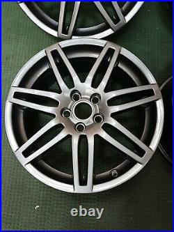X4 Genuine Audi A3 Black Edition S Line Grey 18 Inch 14 Spoke Alloy Wheels Set