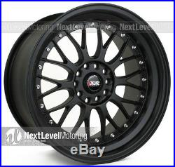 XXR 521 18x10 5-114.3/5-120 +25 Flat Black Wheels (Set of 4) Classic Mesh
