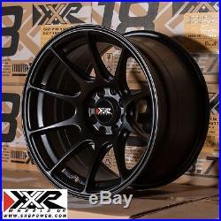 XXR 527 15 x 8.25J ET0 4x100 4x108 FLAT BLACK SET OF 4 WHEELS