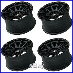 XXR 527 18 x 8.75 ET20 5x100 5x114.3 FLAT BLACK WIDE RIMS ALLOYS WHEELS Z1667