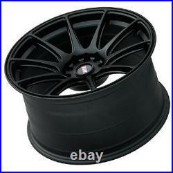 XXR 527 18 x 8.75 ET35 5x120/114 FLAT BLACK WIDE RIMS ALLOYS WHEELS Z1251