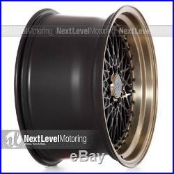 XXR 536 18x10 5-100/5-114.3 +25 Flat Black/Bronze Lip Wheels (Set of 4) Mesh