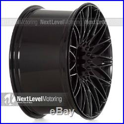 XXR 553 20x10.25 5-112/5-120 +40 Flat Black Wheels (Set of 4) Deep Mesh Concave
