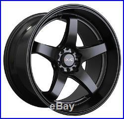XXR 555 18 STAGGERED 8.5J + 10J 5x114.3 5x100 FLAT BLACK WIDE WHEELS GT Z3245/6