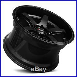 XXR 555 18 x 8.5J ET25 5x114.3 5x100 FLAT MATTE BLACK DISH WIDE WHEELS GT Z3246