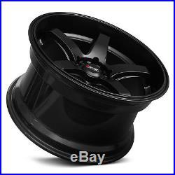 XXR 555 18 x 8.5J ET35 5x114.3 5x100 FLAT MATTE BLACK DISH WIDE WHEELS GT Z3247