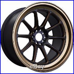 XXR 557 18x10 5x114.3 5x100 +19 Matte Black Bronze 350Z G35 240SX Evo Supra