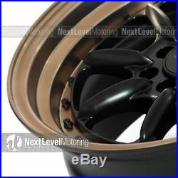 Xxr 002.5 16x8 4x100 4x114.3 +20 Flat Black/bronze Wheels (set Of 4)