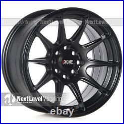 Xxr 527 15x8 4x100 4x114.3 +20 Flat Black Wheels (set Of 4)