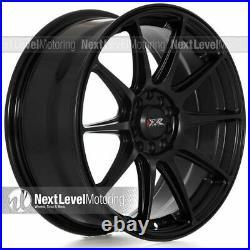 Xxr 527 17x7.5 5x100 5x114.3 +40 Flat Black Wheels (set Of 4)