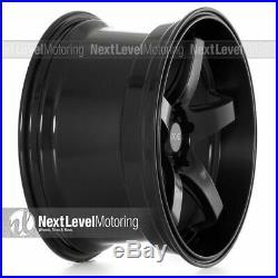 Xxr 555 18x10 5x100 5x114.3 +25 Flat Black Wheels (set Of 4)