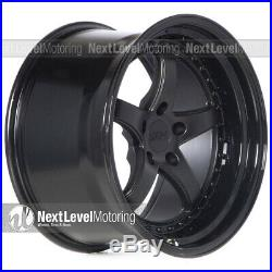Xxr 565 18x10.5 5x114.3 +20 Flat Black Wheels (set Of 4)